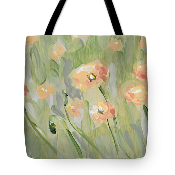 Tote Bag featuring the painting California Poppies by Maria Langgle