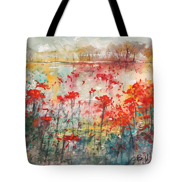 Flowers Never Worry Tote Bag