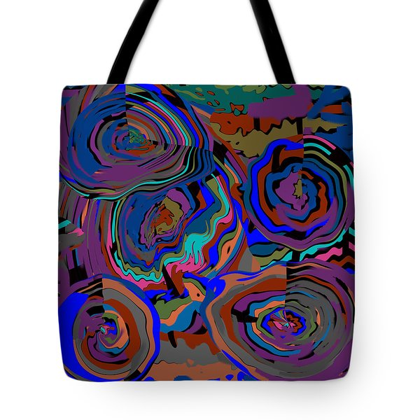 Original Contemporary Modern Art Flowers Of Life Tote Bag by RjFxx at beautifullart com