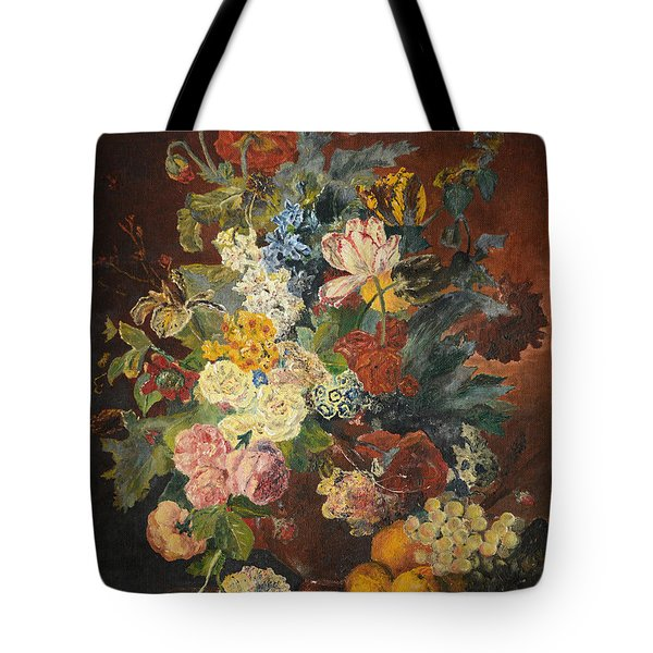 Tote Bag featuring the painting Flowers Of Light by Mary Ellen Anderson