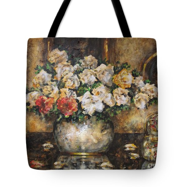 Flowers Of My Heart Tote Bag by Dariusz Orszulik