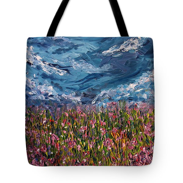 Tote Bag featuring the painting Flowers Of The Field by Meaghan Troup
