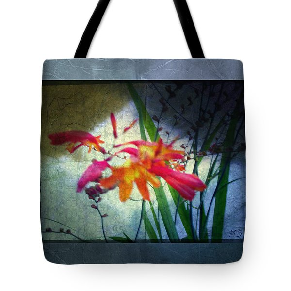 Tote Bag featuring the digital art Flowers On Parchment by Absinthe Art By Michelle LeAnn Scott