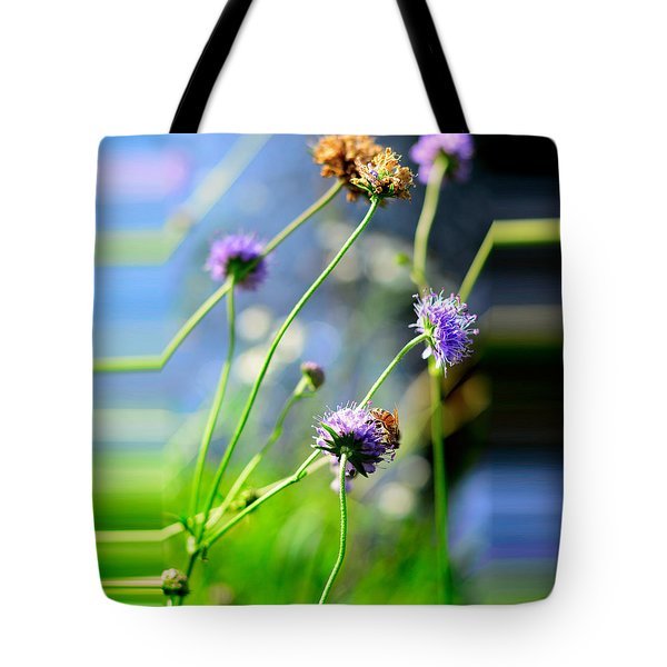 Flowers On Summer Meadow Tote Bag by Tommytechno Sweden