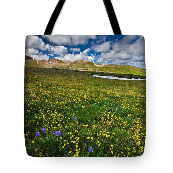 Flowers On The Divide Tote Bag