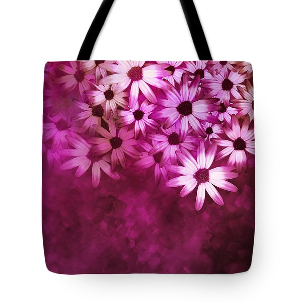 Flowers Pink On Pink Tote Bag by Ann Powell