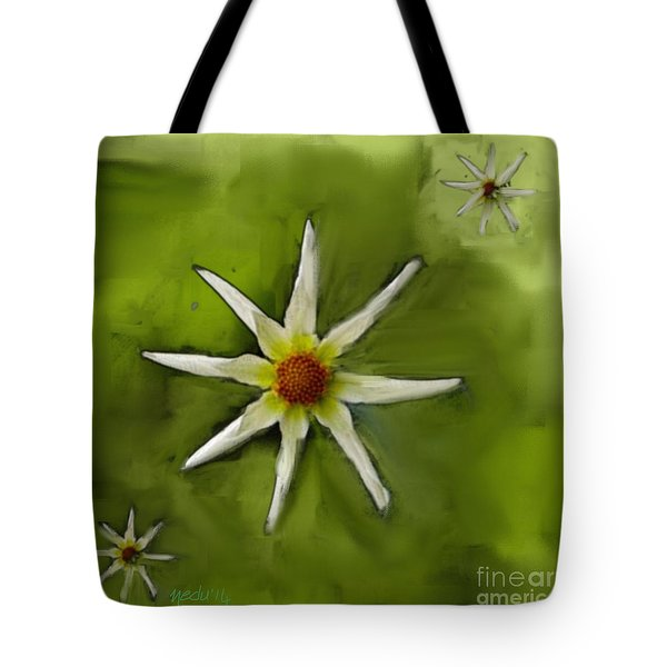 Flowers White Tote Bag by Nedunseralathan R