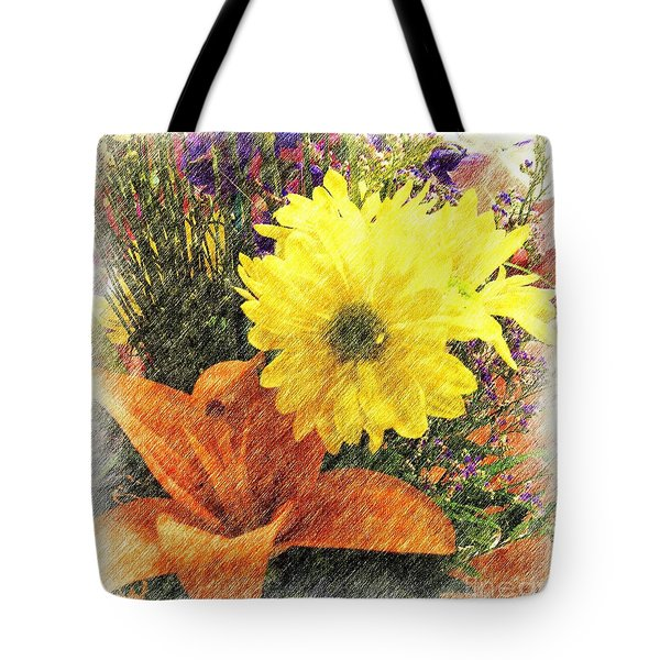 Tote Bag featuring the photograph Flowers With Love by Luther Fine Art