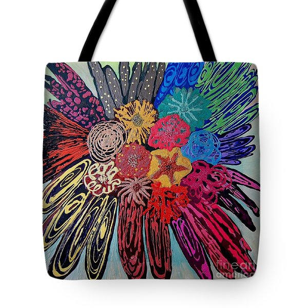 Flowers Burst By Jasna Gopic Tote Bag