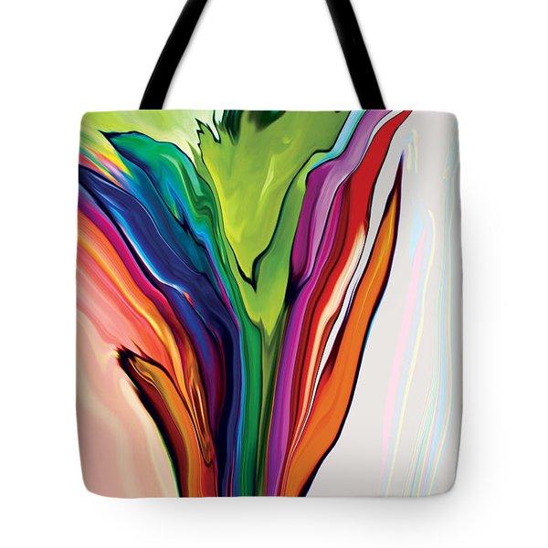 Flowery 5 Tote Bag by Rabi Khan