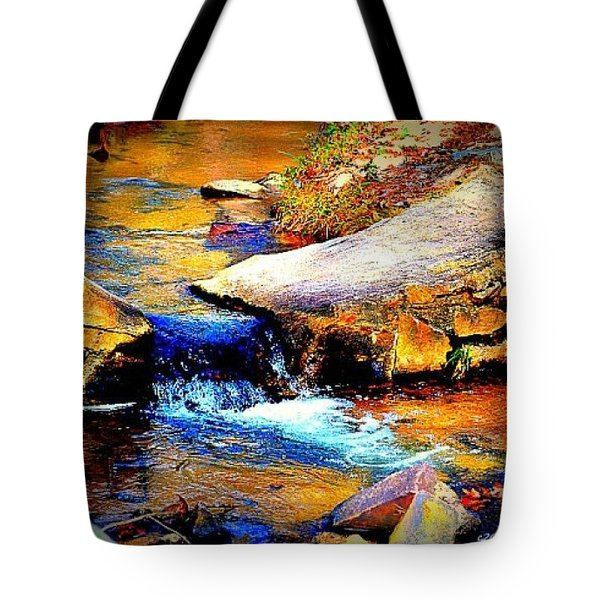 Tote Bag featuring the photograph Flowing Creek by Tara Potts