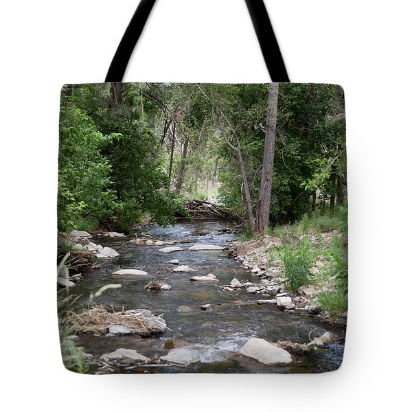 Flowing Down Stream Tote Bag