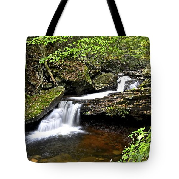 Flowing Falls Tote Bag by Frozen in Time Fine Art Photography