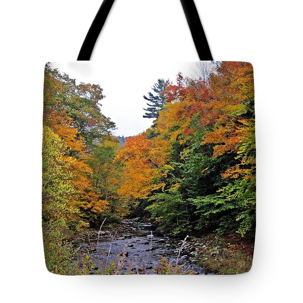 Flowing Into October Tote Bag by MTBobbins Photography
