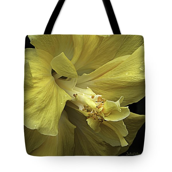 Flowing Petals Of The Chinese Hibiscus Tote Bag by Julie Palencia