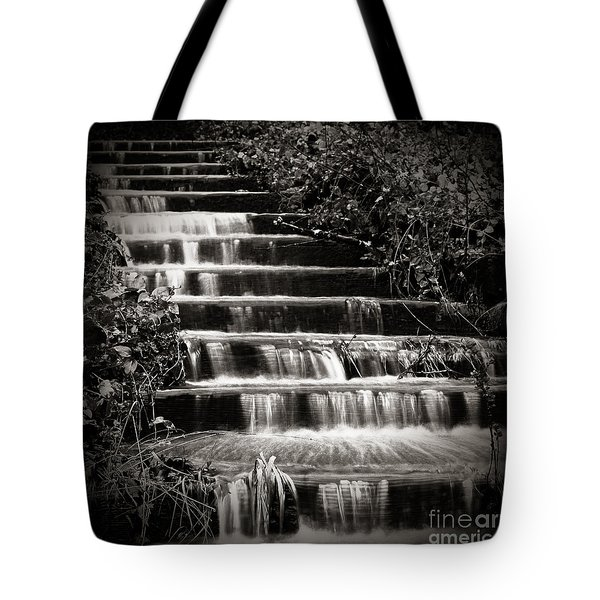 Tote Bag featuring the photograph Flowing Stairs by Charmian Vistaunet