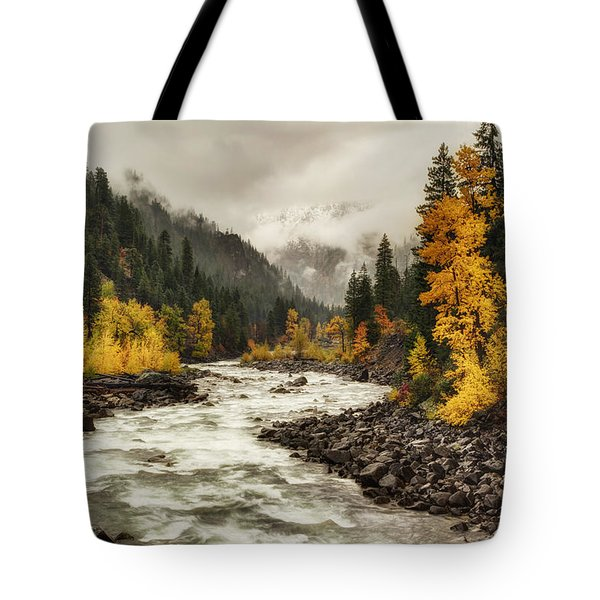 Flowing Through Autumn Tote Bag