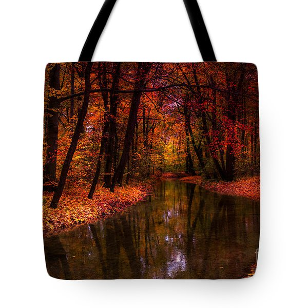 Flowing Through The Colors Of Fall Tote Bag