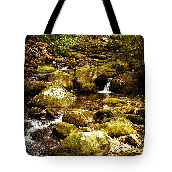 Flowing Water Tote Bag by Lena Auxier