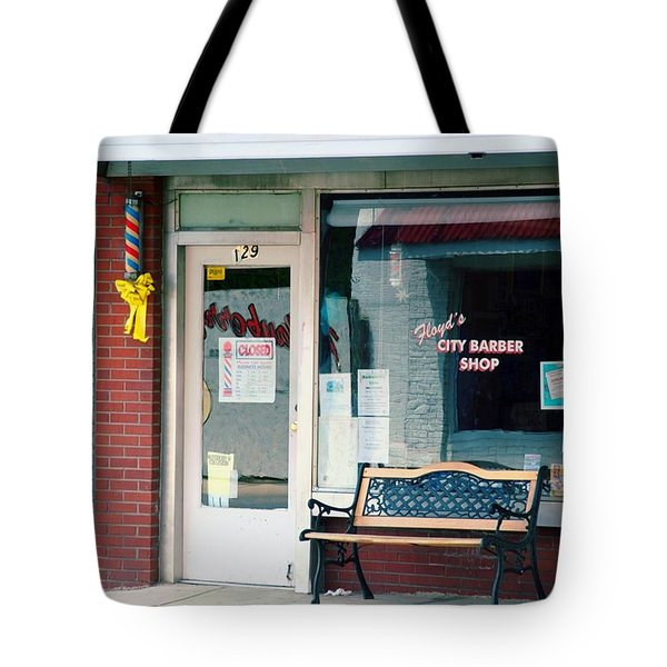 Floyd's Barber Shop Nc Tote Bag