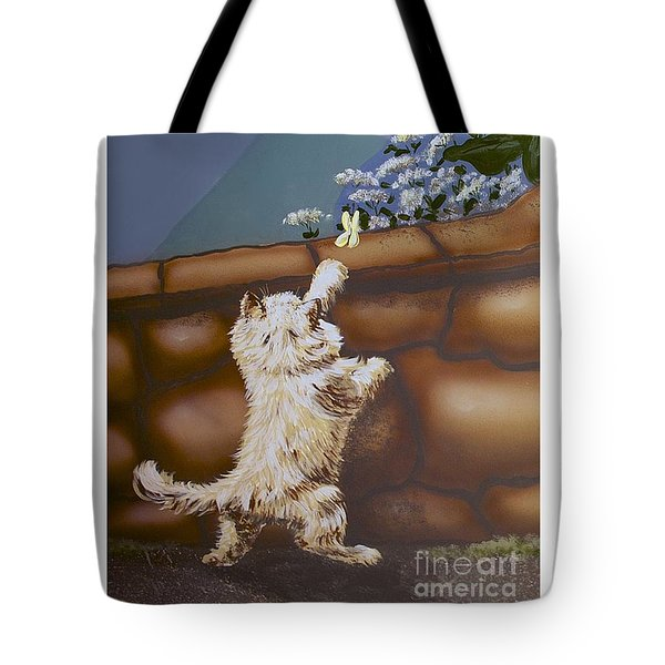 Fluff And Flutter Tote Bag by Linda Simon
