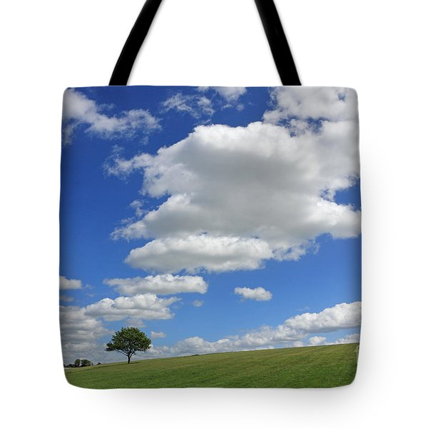 Fluffy Clouds Over Epsom Downs Surrey Tote Bag