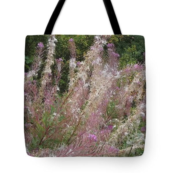Fluffy Flowers Tote Bag by John Williams