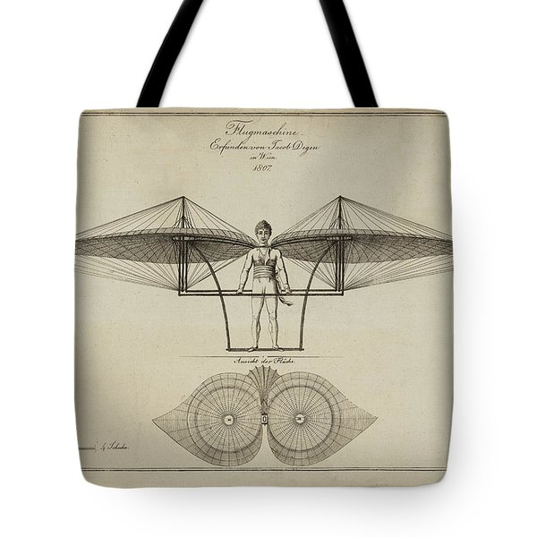 Flugmashine Patent 1807 Tote Bag by Bill Cannon
