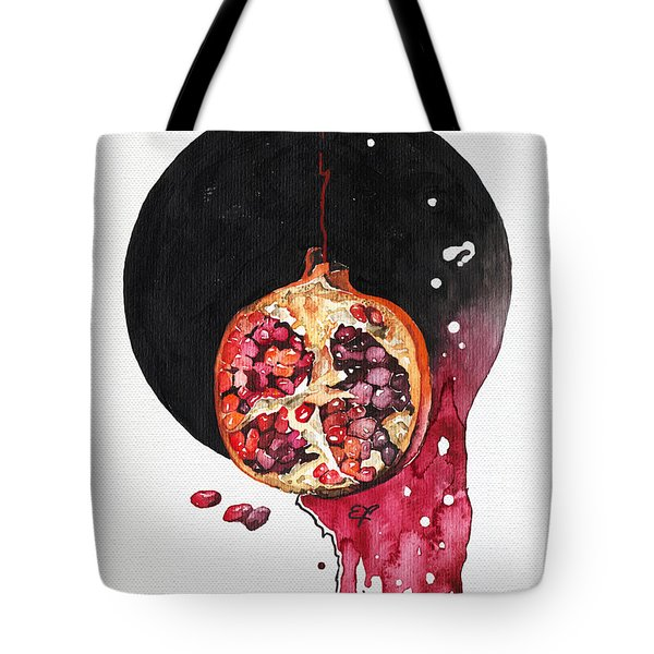 Tote Bag featuring the painting Fluidity Vii - Elena Yakubovich by Elena Yakubovich