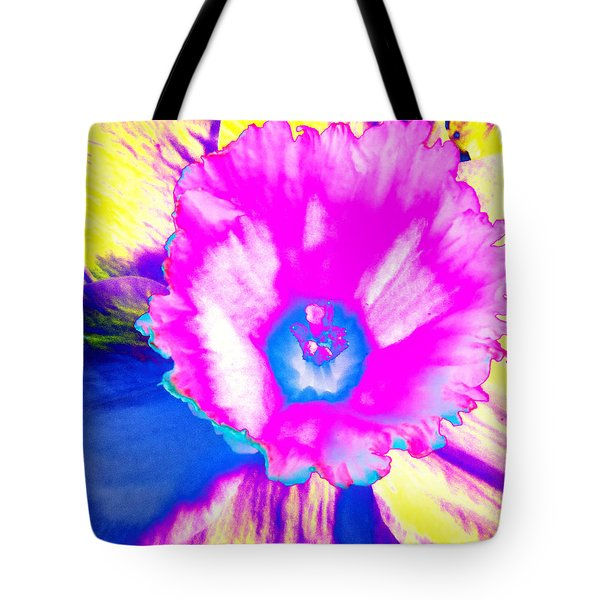 Fluorescent Daffodil  Tote Bag by Shawna Rowe