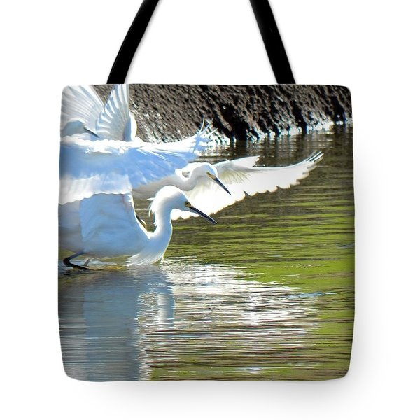 Tote Bag featuring the photograph Flurry by Deb Halloran