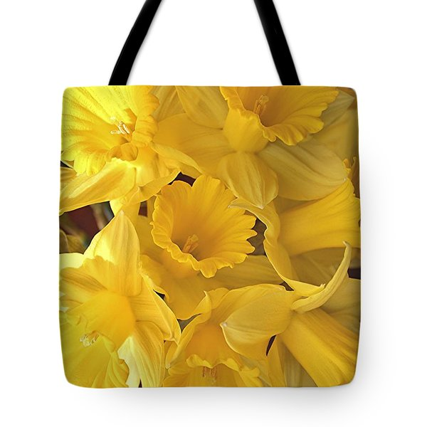 Flurry Of Daffodils Tote Bag by Diane Alexander