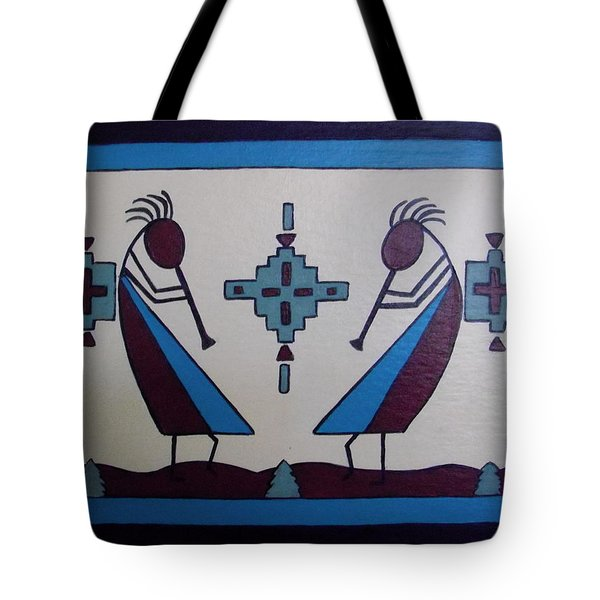 Flute Players Tote Bag by Stephanie Moore