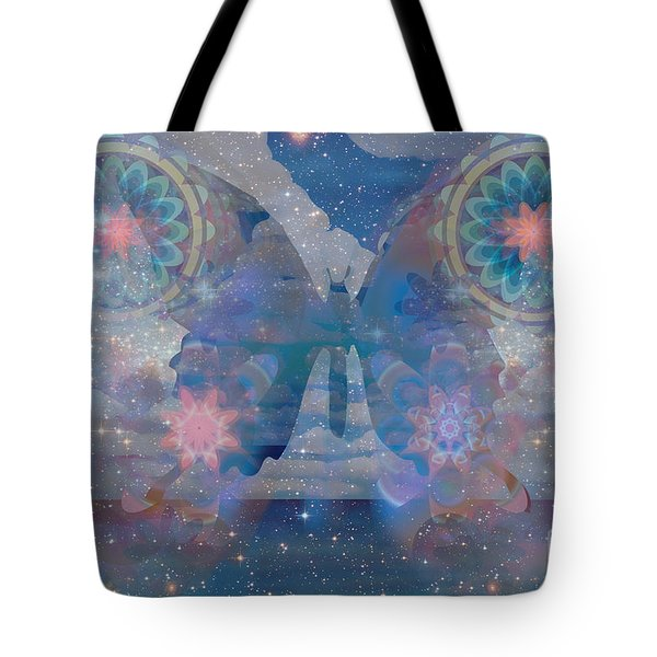 Flutterby Meditation Tote Bag