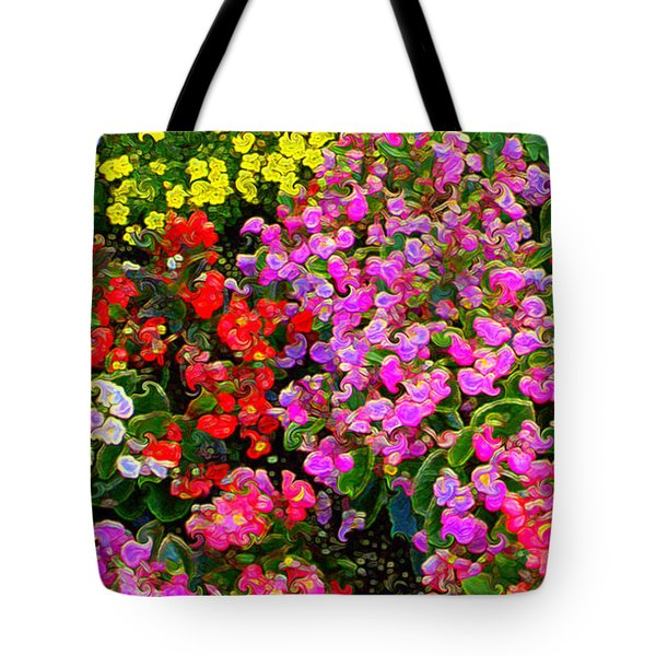 Flwrs Test 1 Tote Bag by Terence Morrissey