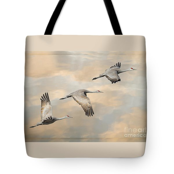 Fly Away Tote Bag by Alice Cahill