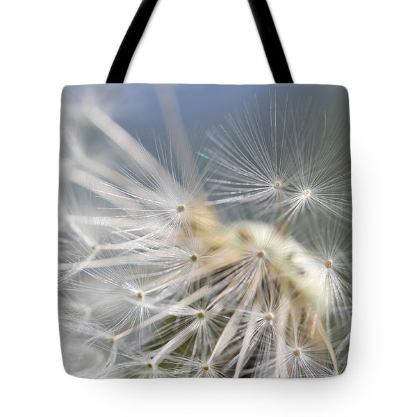 Fly Away Dandelion Seeds  Tote Bag by Jennie Marie Schell
