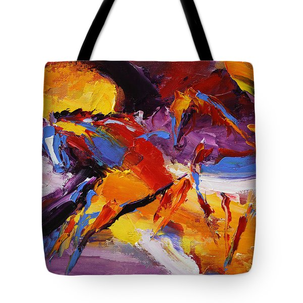 Fly Away  Horse 13 Of 100 2014 Tote Bag