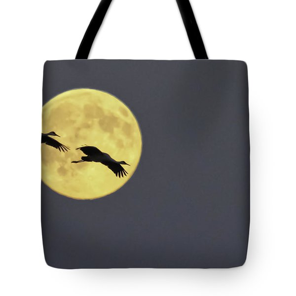 Moonlight Flight Tote Bag