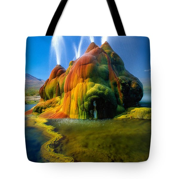 Fly Geyser Travertine Tote Bag by Inge Johnsson