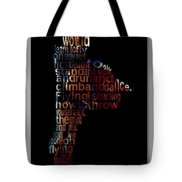 Fly High Supergirl Tote Bag by Marvin Blaine