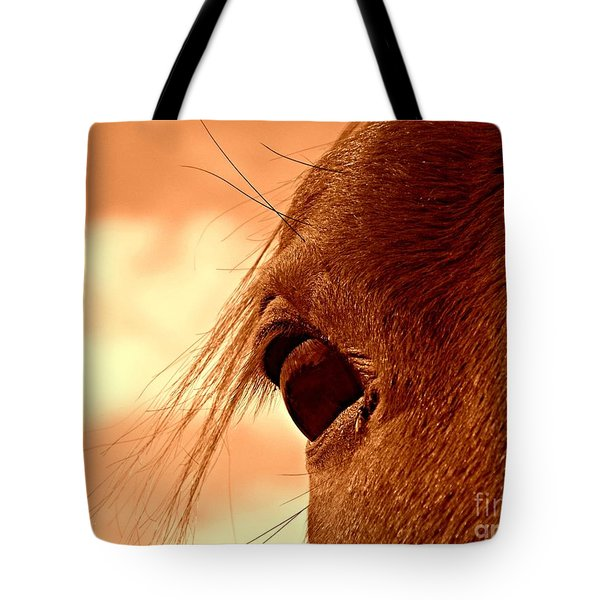 Fly In The Eye Tote Bag by Clare Bevan