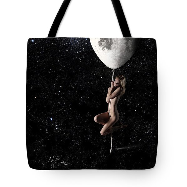 Fly Me To The Moon - Narrow Tote Bag by Nikki Marie Smith