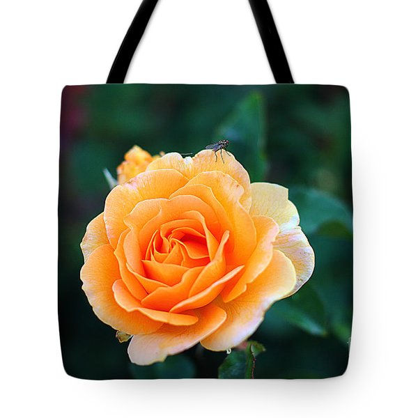 Fly On A Rose Tote Bag
