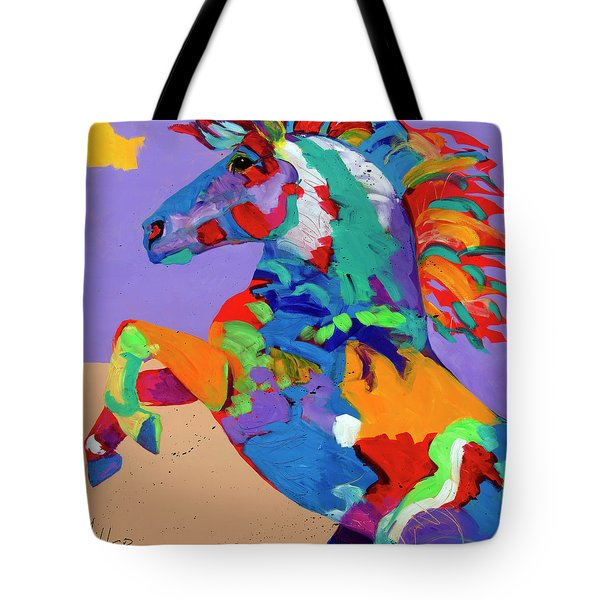 Flyin Hooves Tote Bag by Tracy Miller