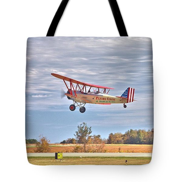 Flying Circus Barnstormers Tote Bag by Gordon Elwell