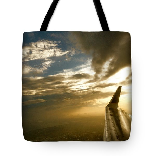 Flying Clouds By David Pucciarelli Tote Bag