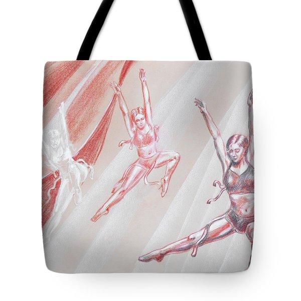 Flying Dancers  Tote Bag by Irina Sztukowski