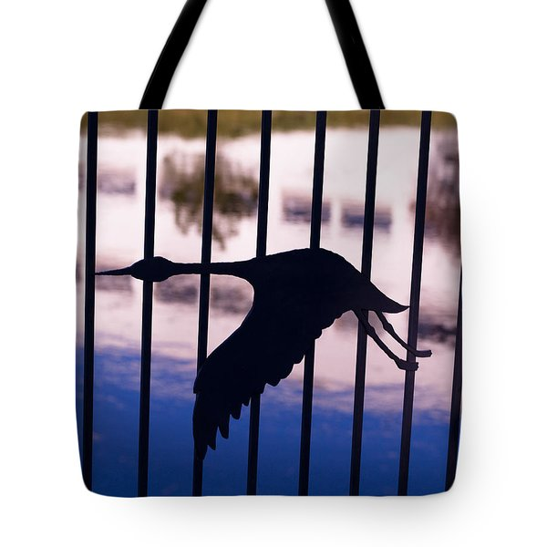 Flying Fence Tote Bag