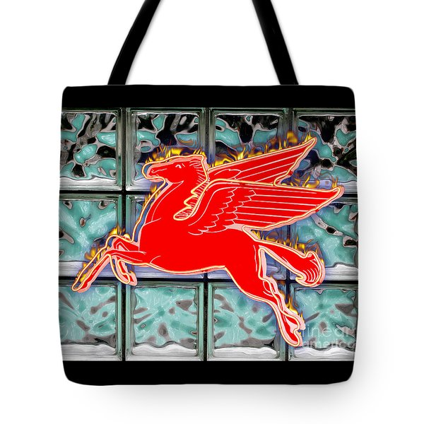 Flying Fire Horse Tote Bag
